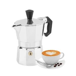 Piacere d'estate Moka, 30mL 1 tazza in alluminio Tipo Moka Caffettiera per caffè espresso Stufa Uso domestico