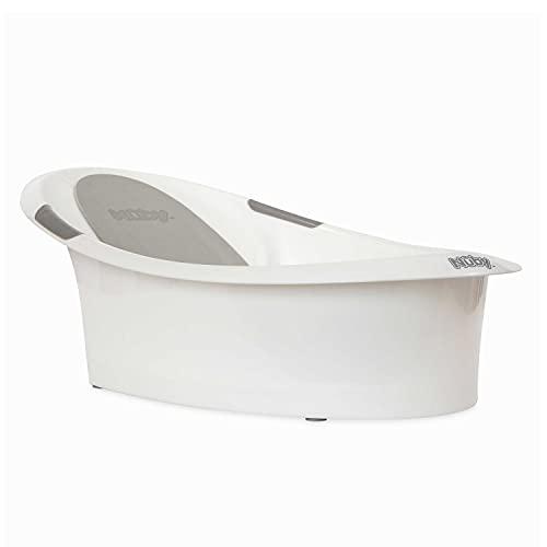 Nuby Babywanne mit integriertem Sitz und weicher Kopfstütze weiß und grau