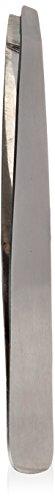Mehaz MS350 Pince à épiler inclinée professionnelle en acier inoxydable durable avec embouts inclinés pour une prise en main précise dans la forme des sourcils et l'épilation du corps indésirable 9,7 cm