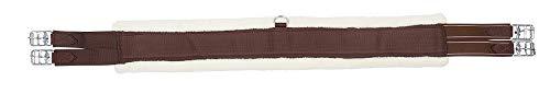 PFIFF Sattelgurt mit Kunstfell, braun-beige 120 cm