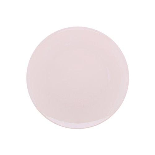 DEGRENNE - Modulo Color lot de 6 asssiettes plate ronde 29 cm , porcelaine - Rose poudré