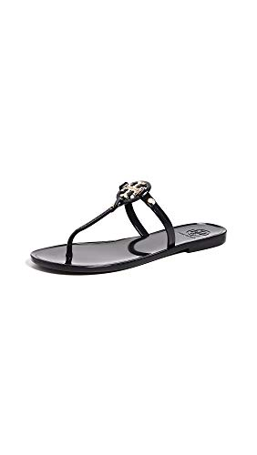 Tory Burch Women's Mini Miller Thong Flip Flops, Perfect Black, 6 Medium US