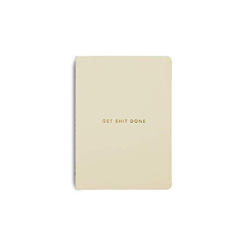 MiGoals, Get Shit Done  Cuadernos diarios A6   Medio cuaderno y lista con páginas de puntos de bala   Planificador de productividad, diario y bloc de notas   Papel forrado para hacer cosas