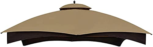 Eurmax Replacement Canopy Top Heavy Duty Gazebo Roof with Air Vent for Lowe's Allen Roth 10X12 Gazebo Cover #GF-12S004B-1, Replacement Top Only (Khaki)