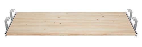 FIX&EASY Guide scorrevoli con ripiano 800X400mm abete rosso pino legno massiccio porta-tastiera cassetto, staffa per binario scorrevole zincato 400mm