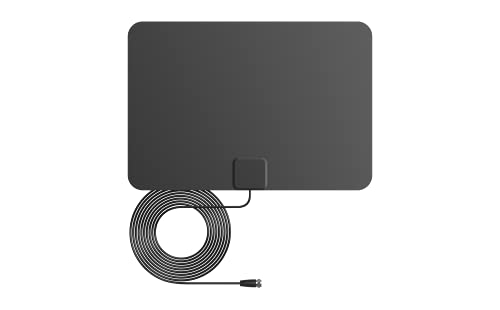 ANTAN Indoor Window HDTV Antenna 35 45 Miles Range Support 8K 4K 1080P UHF VHF view HDTV Channels with Longer 16.5ft Coaxial Cable