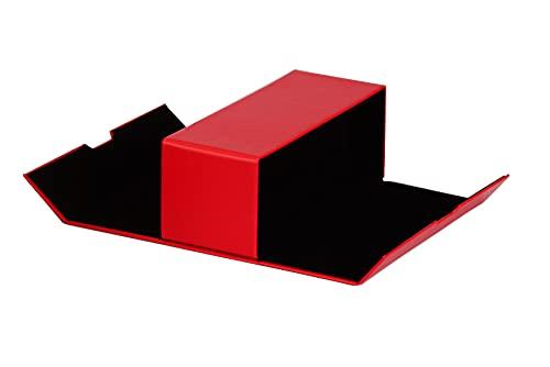 BiP Praktisches Brillenetui für 2 Brillen mit einem großen Fach und Magnetverschluss (rot)
