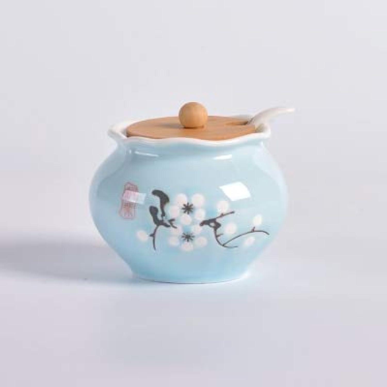 Kitchen Supplies Ceramic Spice jar Three Sets of Creative Condiment Bottle Spice Box Pepper Salt Tank Set Home Combination   4