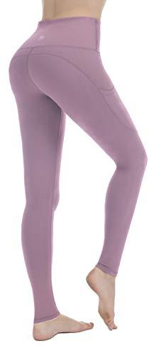 PUNZYMO Leggings Damen Yoga Sport Knöchellang Blickdichte Leggins Lang Yoga Tights Viele Größen, Rosa, L