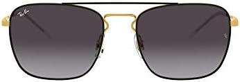 Ray-Ban RB3588 Vintage Metal Square Sunglasses (Bronze-Copper/Dark Grey)