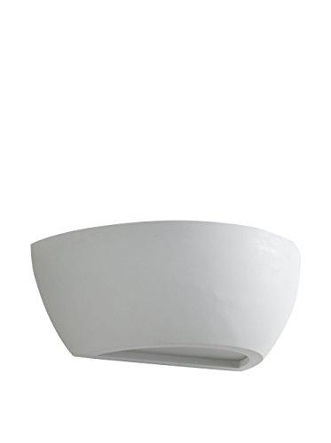 Tomasucci Venezia Wandlampe, Weiß, Länge 31,5 cm/Tiefe 16 cm/höhe 11 cm