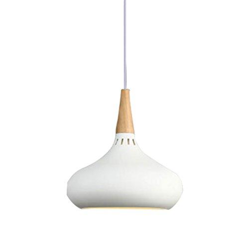 ledmomo–Lámpara de techo, Retro Vintage Loft colgante lámpara de techo moderna Lámparas Colgantes E27base para café bar cocina casa 200x 280mm (Color Blanco)