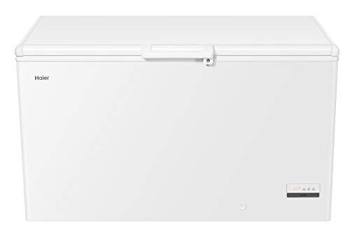 Haier HCE321T Gefriertruhe / 319 Liter/Innenbeleuchtung/Super-Gefrierfunktion/Ausbalancierter Deckel / 2 Metallkörbe