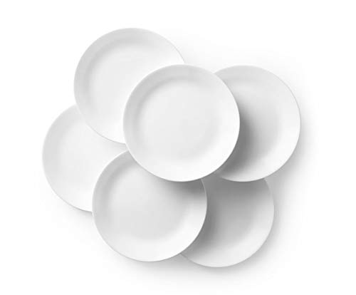 Corelle Winter Frost White Dinner Plates Set (10-1/4-Inch, 6-Piece )
