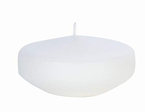 safe candle FLOATING CANDLES, Large, 12 pieces, 8 hrs. burning time(White)