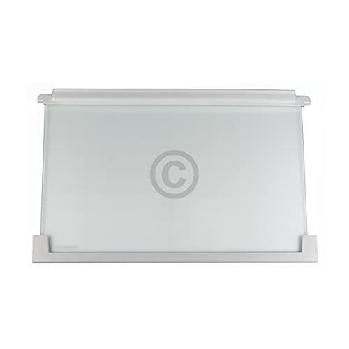 Glasplatte Regal für Kühlschrank Ersatz für AEG Electrolux 225153106 2251531060/3 Glasregal Ablage Einlegeboden Glasboden Platte Glasablage 475x305x25mm für Kühl- Gefrierkombination Juno Zanussi