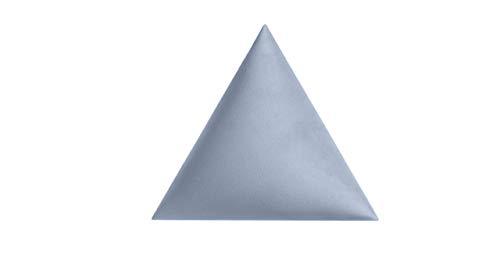Generisch Panel de Pared Incl. Sujeción - Revestimiento Mural Terciopelo 30 x 30 X 30CM - 50MM Acolchado - 3D Decoración - Tapicería Autoadhesivo-Wandkissen-Triángulo-Decoración Moderno Panel …