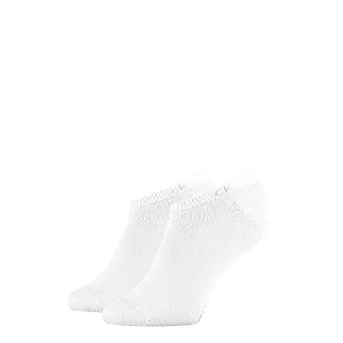 Calvin Klein Socks Mens Herren Sneakersocken ECP250G, Schwarz, 43/46 Socks, White