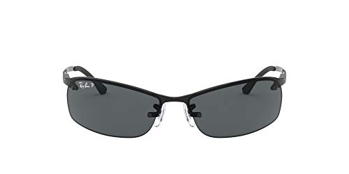 Ray-Ban - Gafas de sol Rectangulares RB3183P Top Bar, Black (002/81 Black)