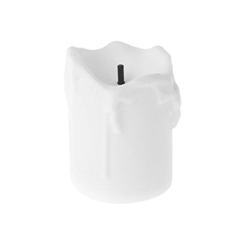RK-HYTQWR Velas de luz de té parpadeantes eléctricas con luz LED sin Llama Decoración navideña de Boda, Concha Blanca Vela electrónica llorosa, Blanco