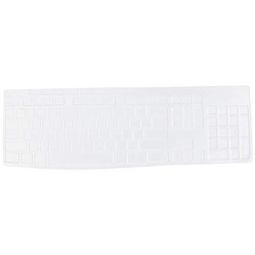 Baluue Cubierta de Teclado Compatible con Mk270 - Película Protectora de Teclado Protectora a Prueba de Polvo Película de Silicona Ligera Compañeros de Trabajo Amigos Familia