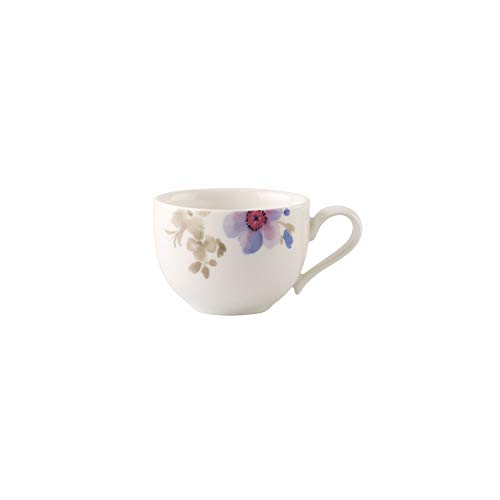 Villeroy & Boch Mariefleur gris Basic - Taza de expreso (porcelana Premium, 80 ml, altura de 4,5 cm) blanco/colorido