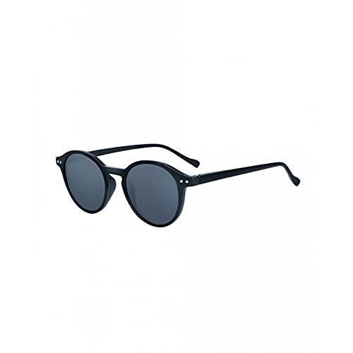 Q4S Gafas De Sol Polarizadas Gafas De Sol con Montura Redonda Pequeña para Hombres Y Mujeres Gafas Uv400 Gafas Opacas,A