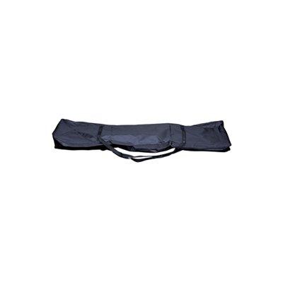 ELECTROVISION-Tessuto di alta qualità, con supporto, colore: nero, Borsa per il trasporto con cerniera e 2 impugnature