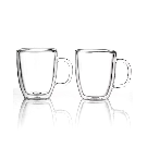 Bodum Bistro Set of 2 Thermal Double Walled 15 Oz. Glass Mugs - Glassware & Drinkware - Dining & Entertaining - Macy's
