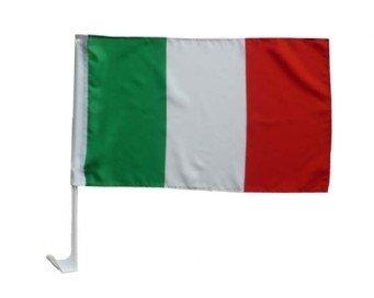 AZ FLAG Drapeau de Voiture Italie 45x30cm - Carflag Italien 30 x 45 cm