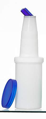 Garnet 6000-B Speed Bottle de 1 litro – Recipiente de zumos y jarabes – 1 unidad – El tarro está equipado con tapón de cierre – Fabricado en Italia, plástico