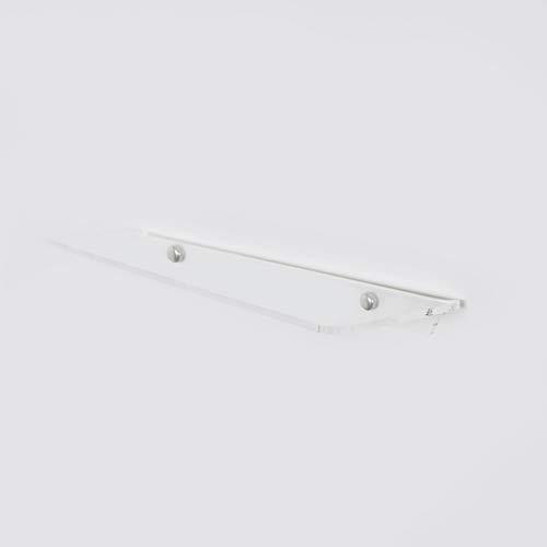 Fimel Mensola a Muro in plexiglass Spessore 5 mm Modello hob Misura l.49 cm x p. 11 cm competa di Copri Viti cromati (esclusi i tasselli)