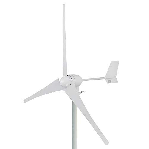 GIOEVO Generatore Eolico a Turbina Kit Generatore a Turbina a 3 pale MPPT Regolatore di Carica Orizzontale Generatore a Turbina Eolica per L'integrazione di Potenza (700W 24V)