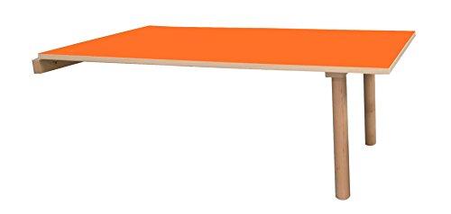 Mobeduc Mesa Infantil abatible 120x65 cm, Naranja, 120 x 65 cm, Talla 0