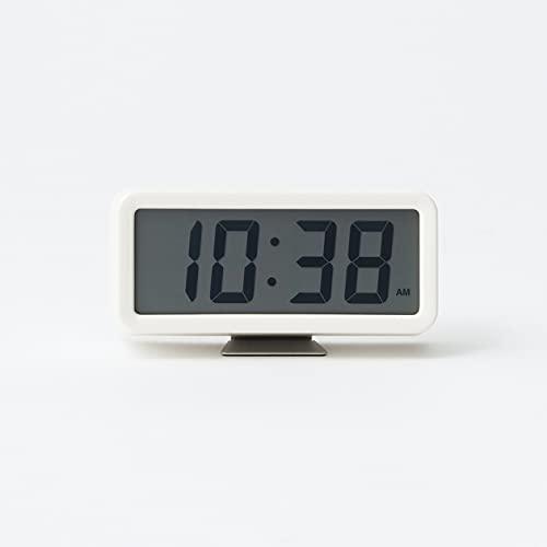Muji Uhr, Kunststoff, Weiss, Mittelgroße