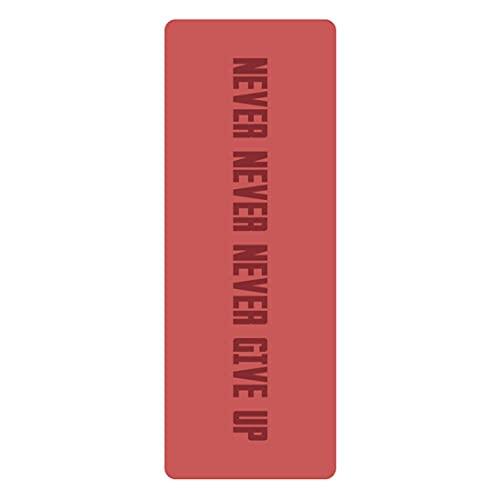 XJST Mat de Yoga Que no se sujeta a PU Yoga Mats Ejercicio Mat Eco Friendly Hotlout Mat para Yoga, Alfombrillas de Aptitud de Pilates con Marcas de alineación, con Correa de Transporte,Q