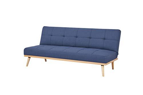AmazonBasics - Sofá cama de tres plazas, 182 x 80 x 80,