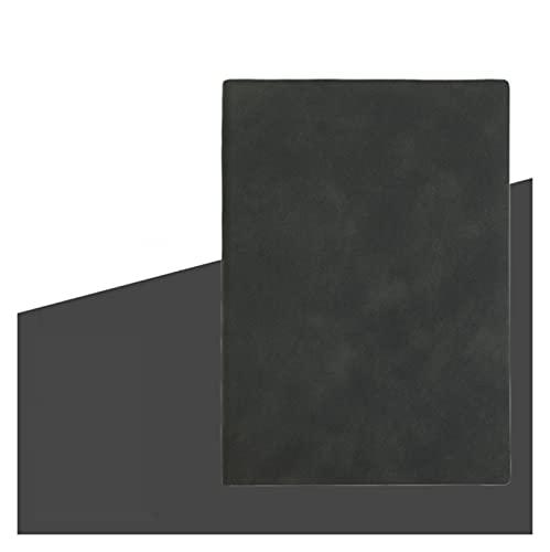 Notebook Papelería Libro Oficina Negocio Cuaderno Manual Nostálgico Retro Papel Forestal (Color : Black, Size : A6)
