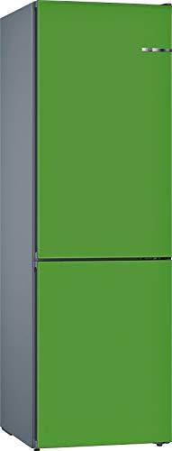 Bosch KVN39IJEA Serie 4 VarioStyle Frigorífico independiente/E / 203 cm / 238 kWh/año/Puerta frontal intercambiable verde menta / 279 L / 89 L congelador/NoFrost/VitaFresh