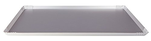 Pentole Agnelli pâtisserie et Pizza Plateau anodisé, Aluminium 60x40x1.5 cm