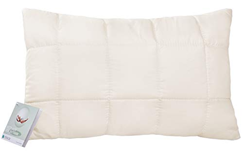 franknatur Kinderkopfkissen mit Tencel Kissen 40x60 höhenverstellbar 60 Grad waschbar