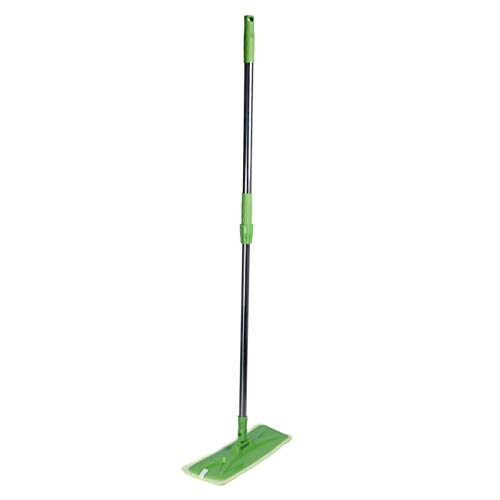 """Hardwood Floor Flat Mop with 17"""" Washable Reusable Microfiber Pads for Wet or Dry Floor Cleaning – Safe for All Surfaces (Multi-Color)"""