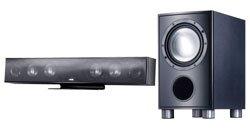 Canton DM1 2.1 Lautsprechersystem (Soundbar) high-gloss schwarz