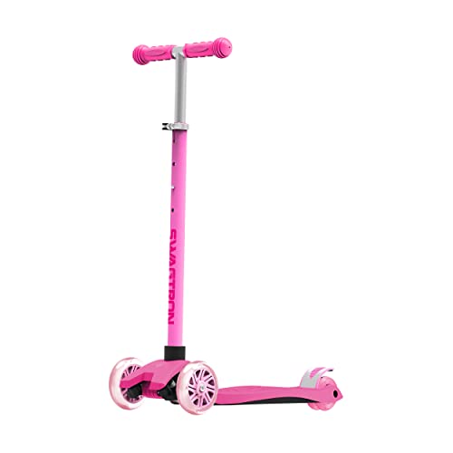 Swagtron K5 3-Wheel Kids Scooter with Light-Up Wheels   Quick Assembly   ASTM-Certified  ...