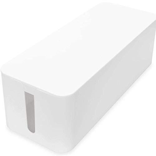 Virone Caja organizadora de cables, color blanco