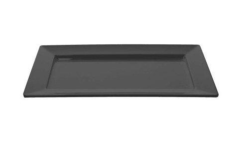 Tognana TOG800N08 Assiette Rectangulaire Show, Noir, 35 x 20 cm, Céramique