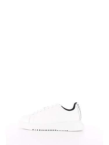 Emporio Armani X4X312 - Zapatillas con cordones de piel para hombre A222 White+white 39