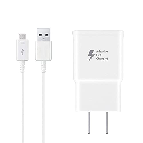 Wall Charger Kit Adaptive Fast Charge with USB 2.0 Charger Micro USB Cable Compatible with Samsung Tablet/Phone Galaxy S7 / S7 Edge / S6 / S6 Plus / A6 / J7 / J3 / Note 5 4