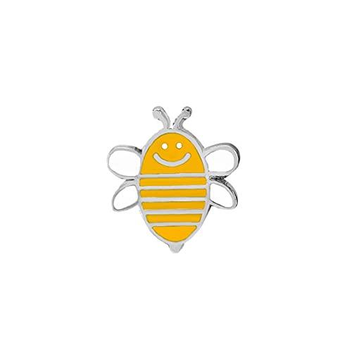 Broche de moda de dibujos animados lindo abeja mosca insecto broche niños niñas ropa accesorios negro amarillo esmalte Pin regalo cumpleaños joyería