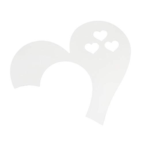 Fliyeong - Adhesivos decorativos para pared, diseño de corazón, 3D, extraíble, decoración para el hogar, elegante y popular